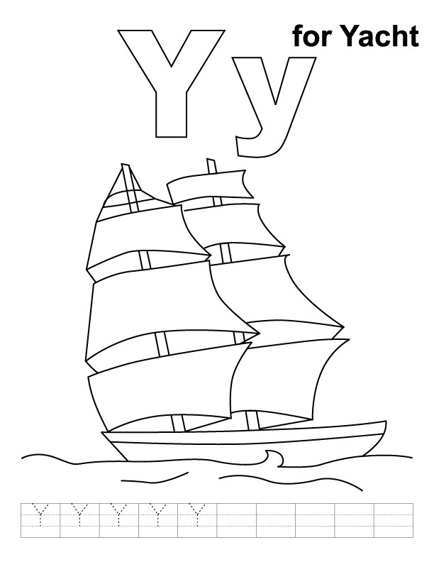Coloring Pages For Y : Letter y coloring pages az