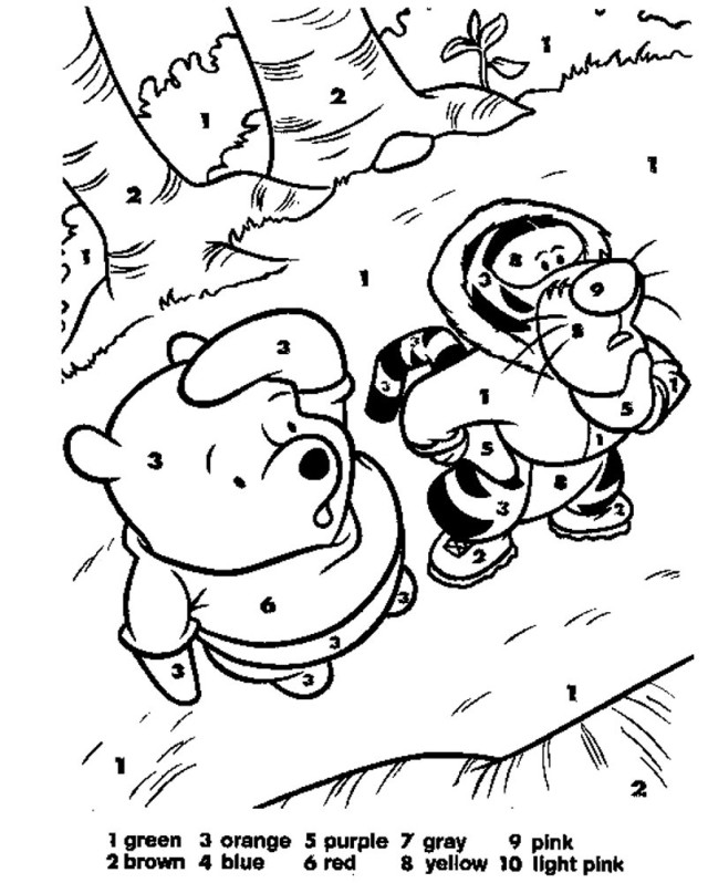 easy number coloring pages - photo#10