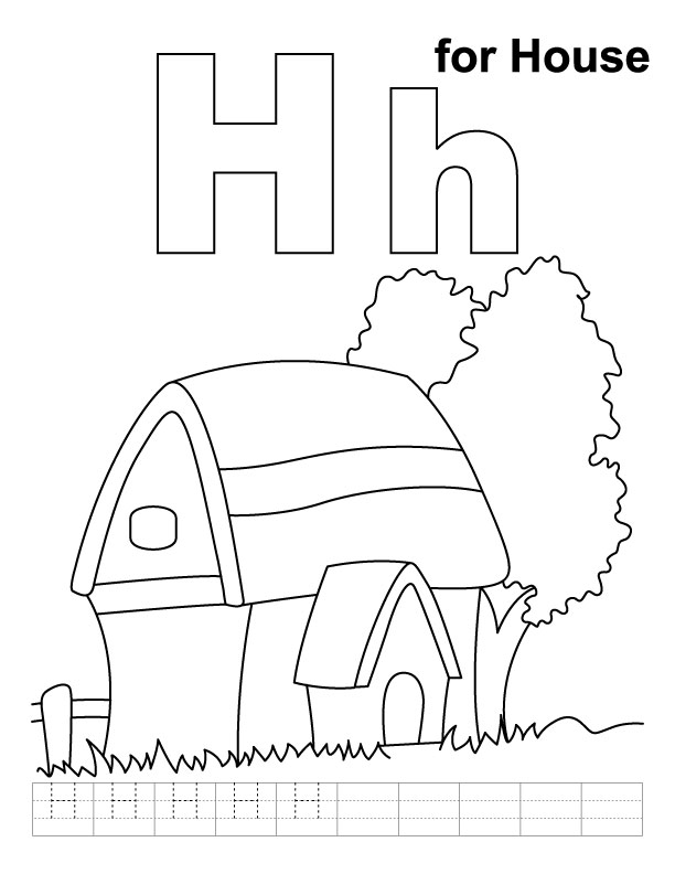 Coloring Pages For Letter H : Letter h coloring pages az