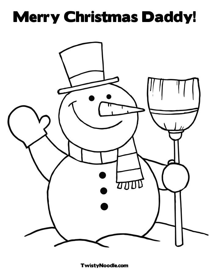 Daddy Christmas Colouring Pages Coloring Home