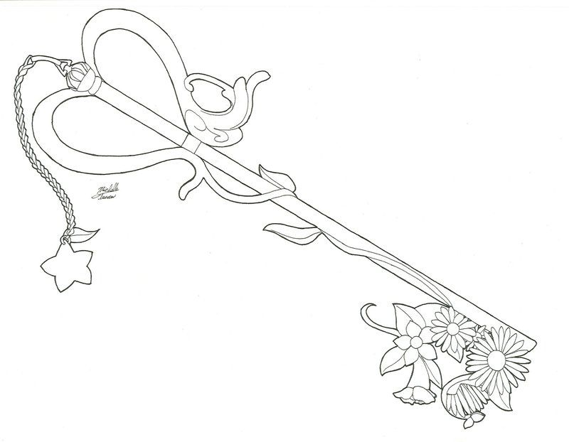 Line Drawing Key : Key coloring page home