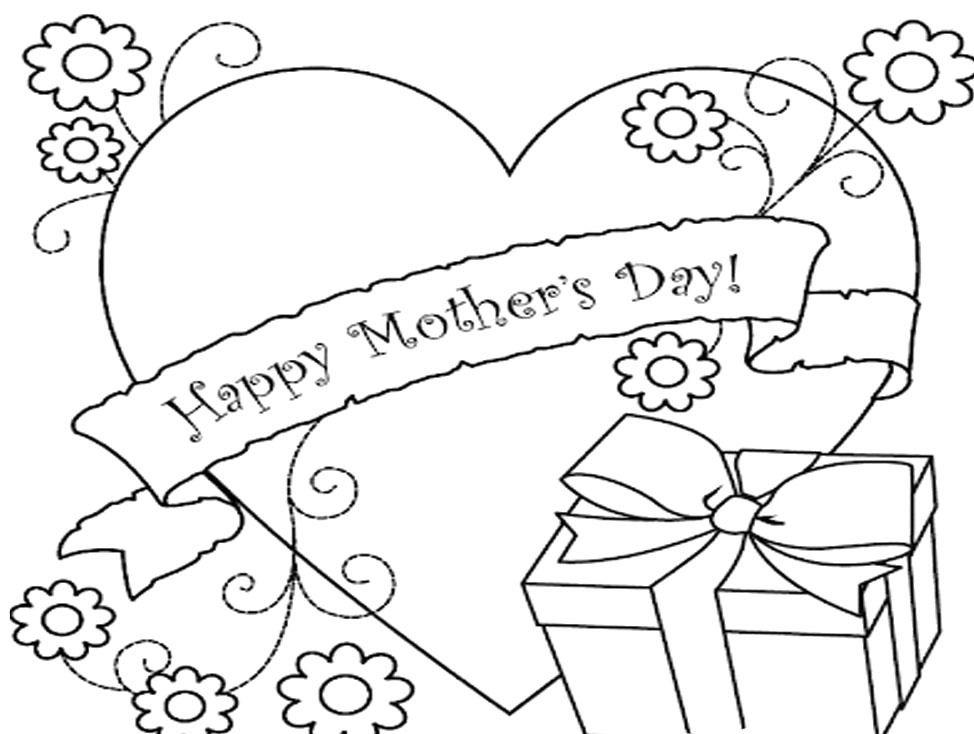 Раскраски открытки для мамы на день рождения своими руками