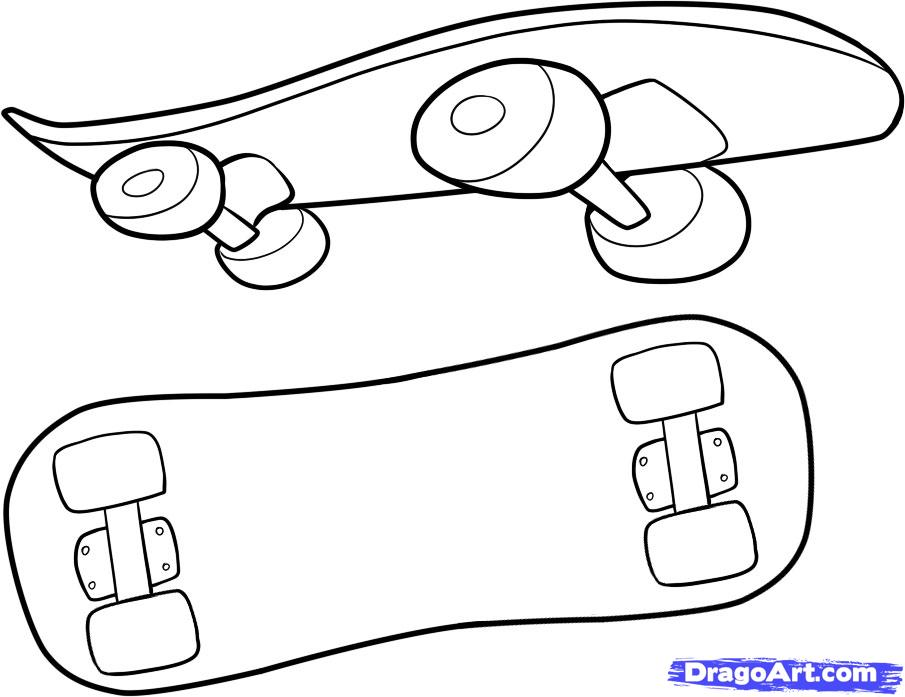 skateboard coloring pages for kids - photo#30