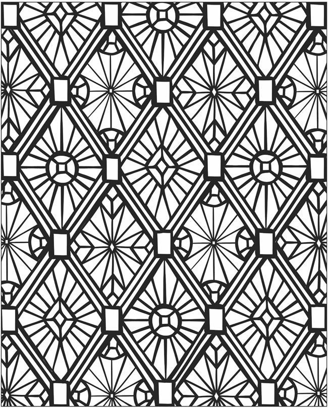 mosaics coloring pages - photo#4