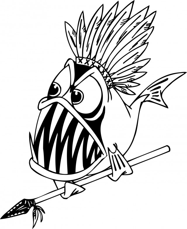 piranha coloring pages - piranha coloring page az coloring pages