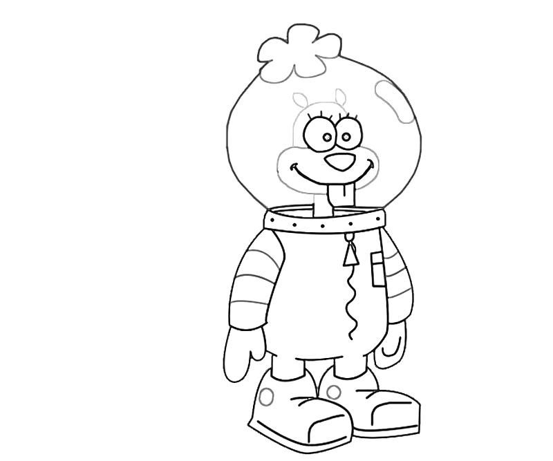 spongebob squarepants sandy cheeks  az coloring pages, printable coloring