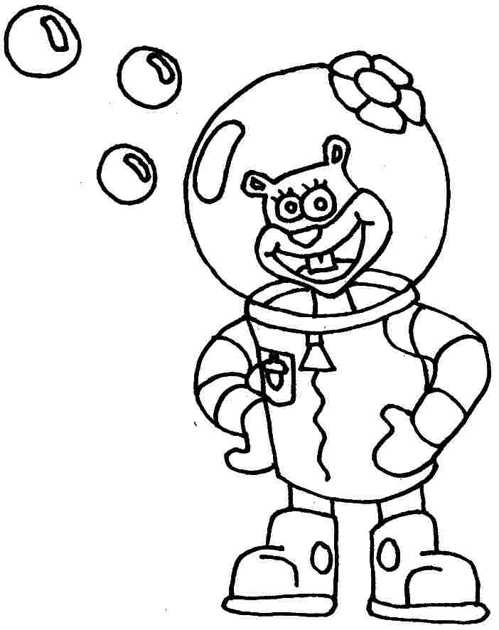 Sandy Cheeks Spongebob Coloring Pages Online Sandy Best