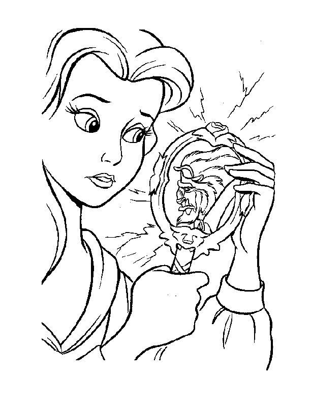 coloring pages - Cartoon » Beauty and the Beast (429) - Belle