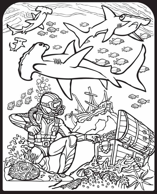 Shark pictures to colour in coloring home for Free printable shark coloring pages