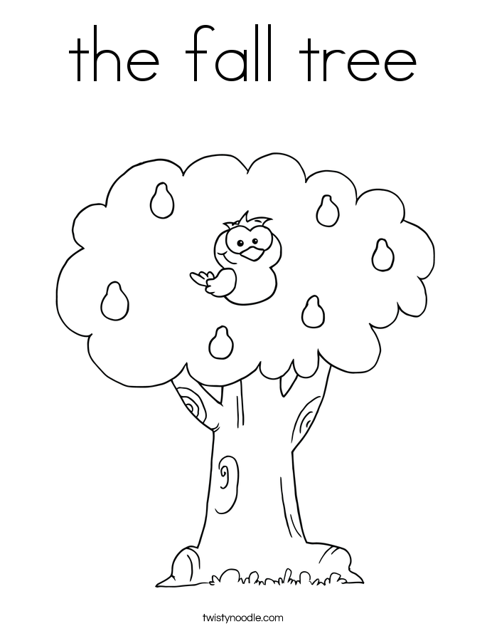 Fall Tree Printable Coloring Home