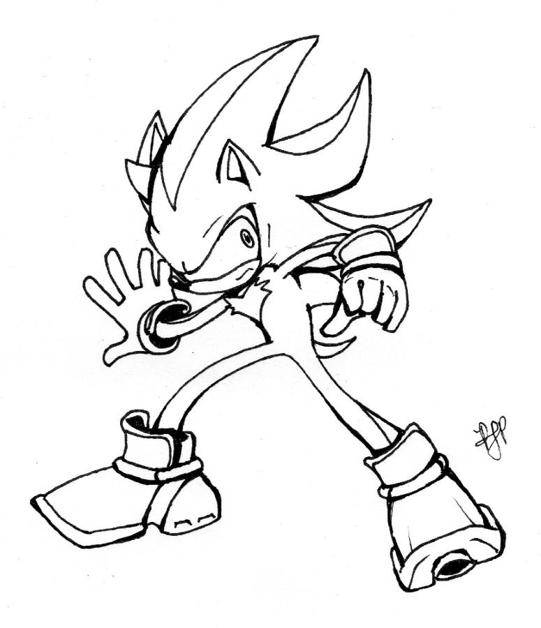 Shadow The Hedgehog Coloring Pages To Print - Coloring Home