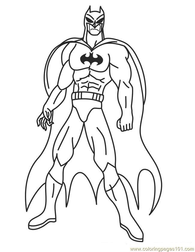 Superheroes Coloring Pages Free