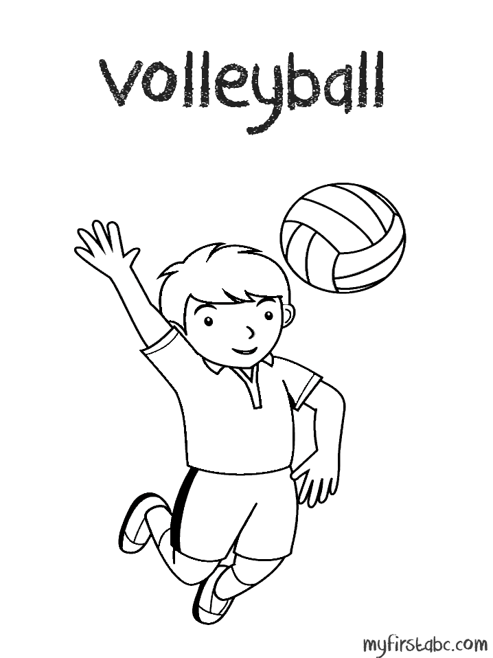 Volleyball coloring pages coloring home for Free printable volleyball coloring pages