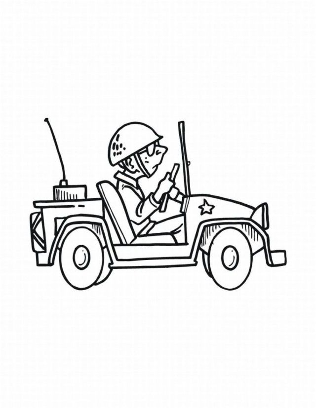 Viewing Gallery For Army Jeep Coloring Page Army Men ...