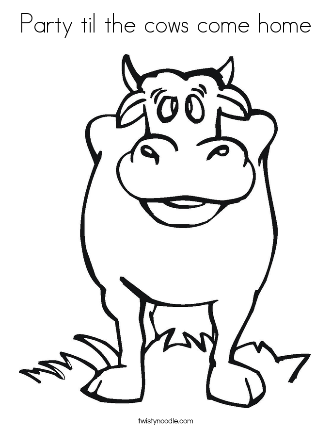 dairy cows coloring pages - photo#37