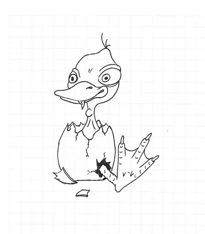 ugly duckling coloring page - photo #43
