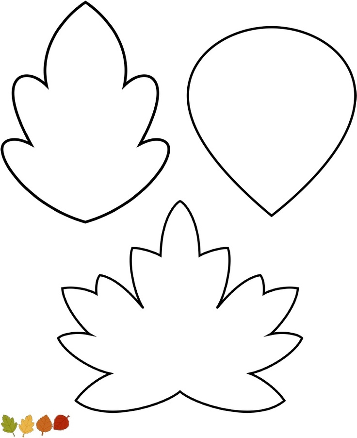 Template For Leaves - AZ Coloring Pages