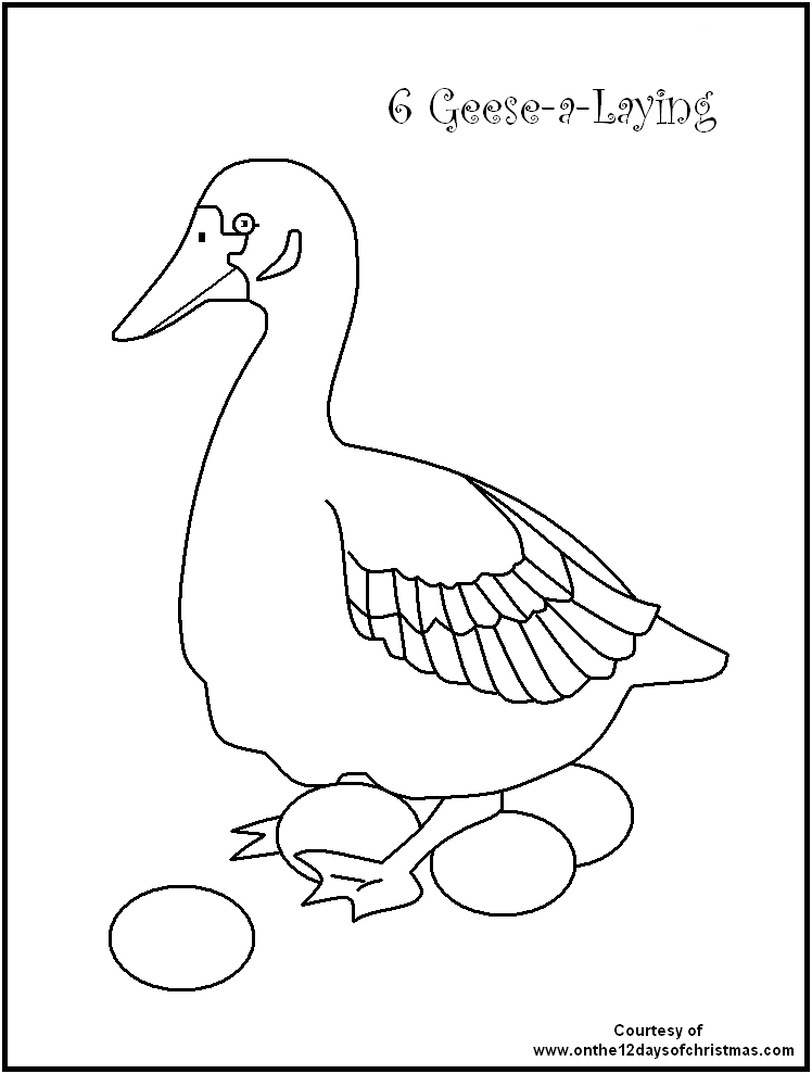 christmas coloring pages 12 days - photo#9
