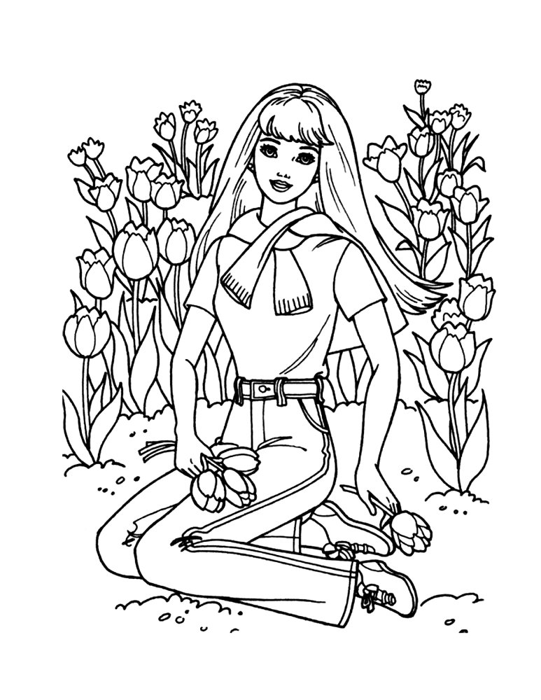 barbie cheerleading coloring pages - photo#2