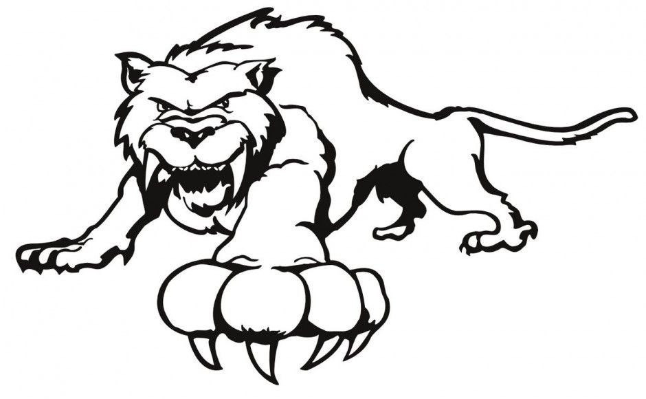 Saber Tooth Tiger Coloring Pages Free Saber Tooth Tiger Coloring