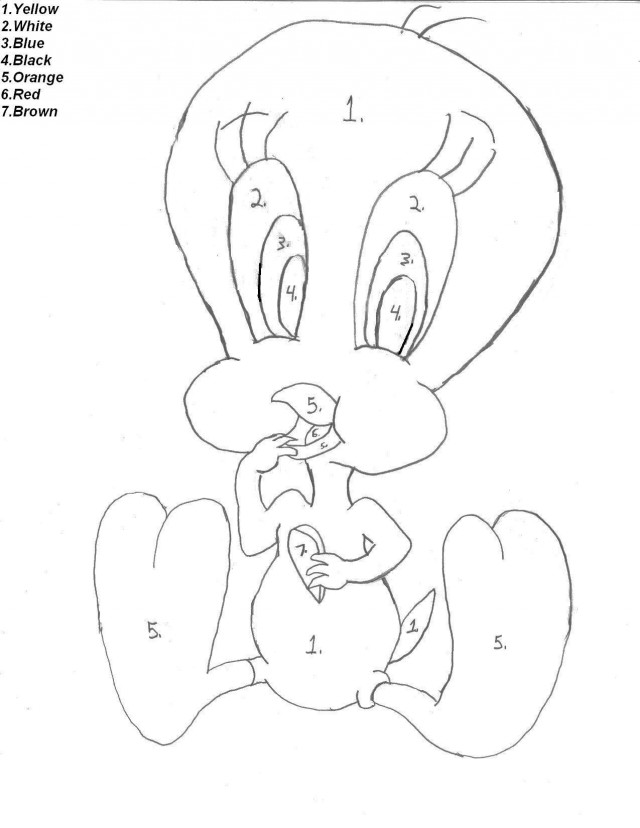 Home Uncategorized Cute Fish Coloring Page Color Number Id