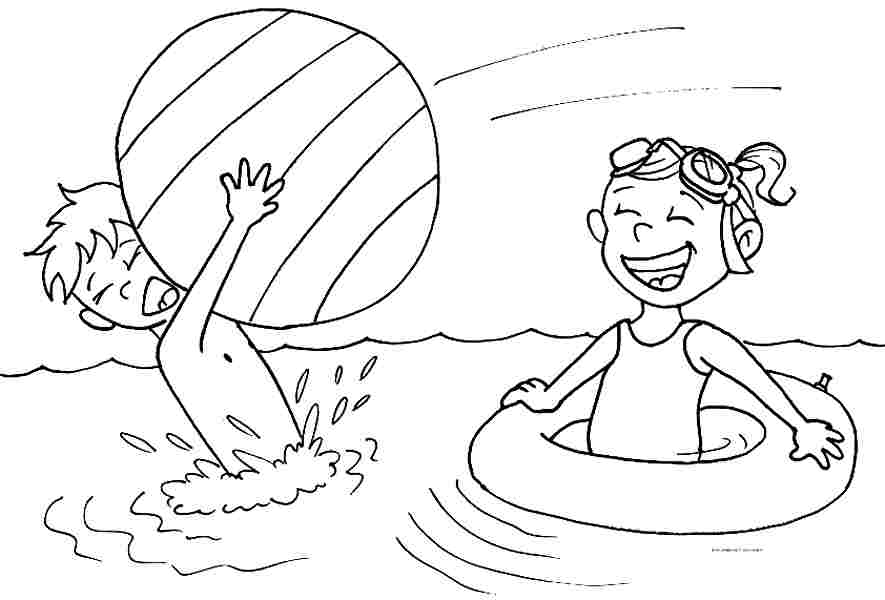 Summer coloring pages for preschool az coloring pages for Summer pictures for kids to colour