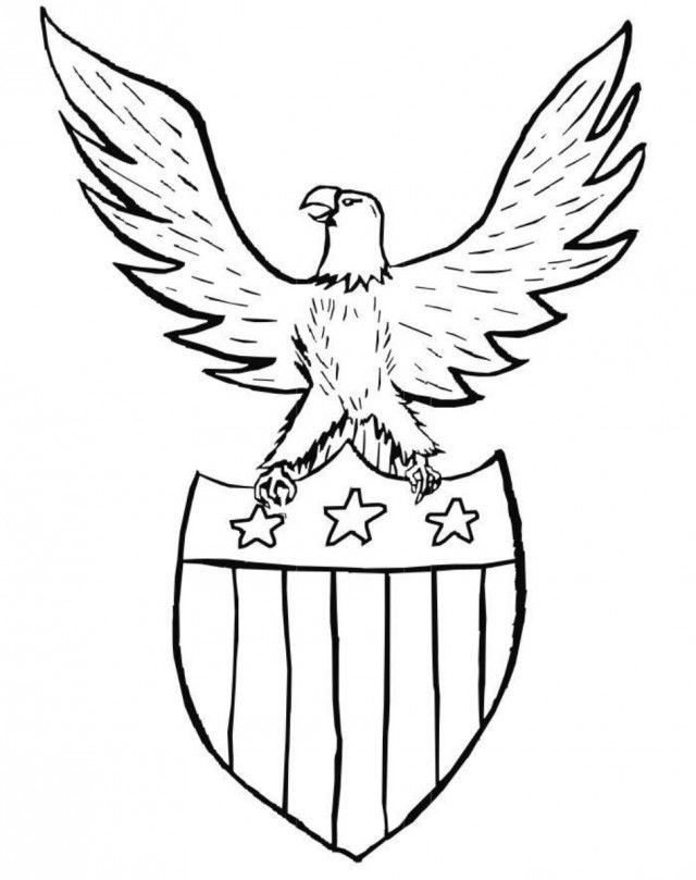4th Of July Coloring Pages Pdf : Shield patriotic coloring pages printable