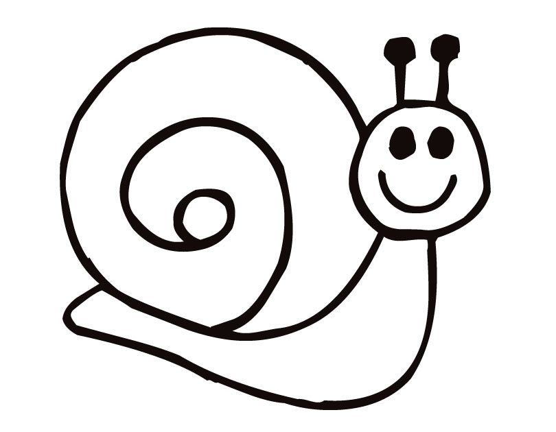 Snail Coloring Page - Coloring Home