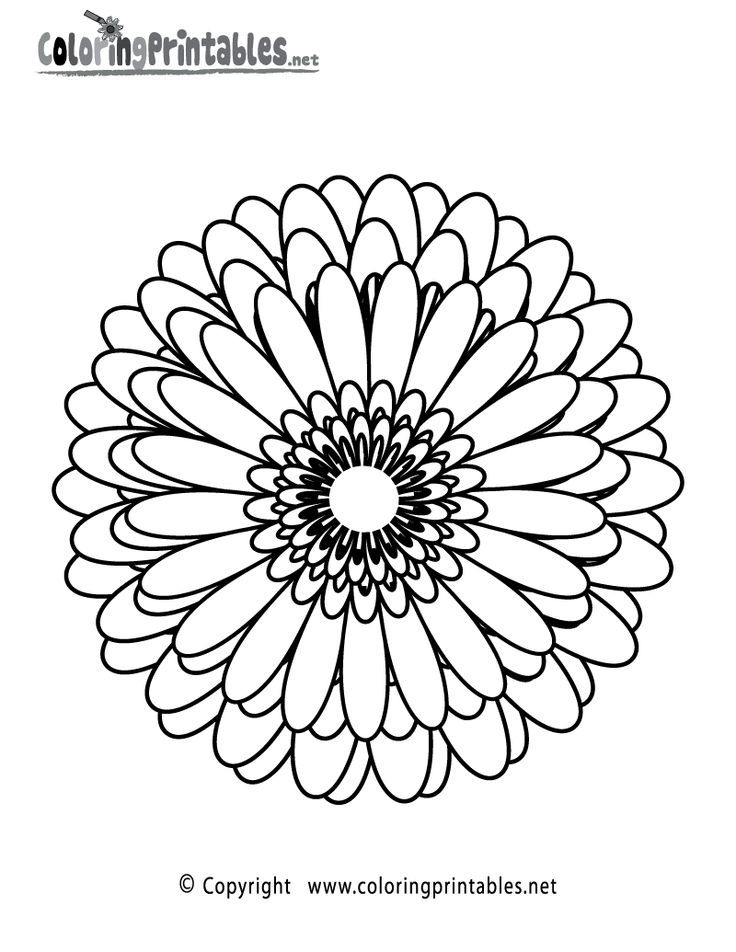 Abstract Flower Coloring Pages | Free coloring pages for kids