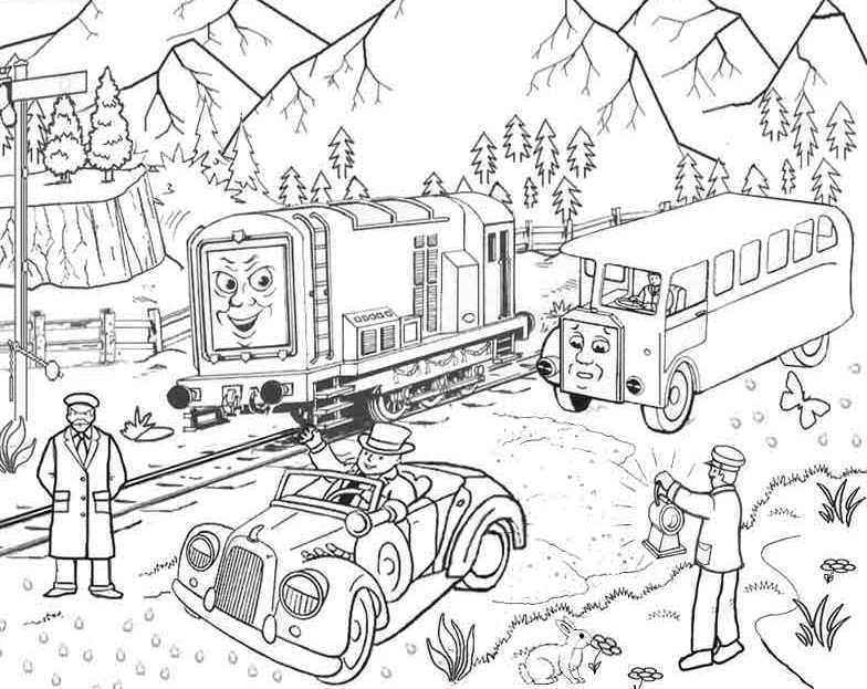 Thomas And Friends Saw People Fishing Coloring Pages