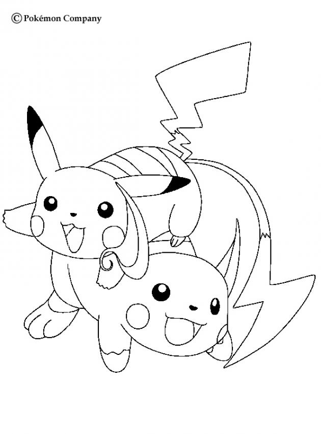 Pokemon Coloring Pages Pikachu Coloring Home