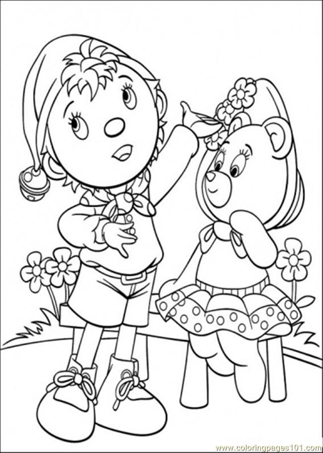 Noddy Pictures Coloring Home Noddy Coloring Pages