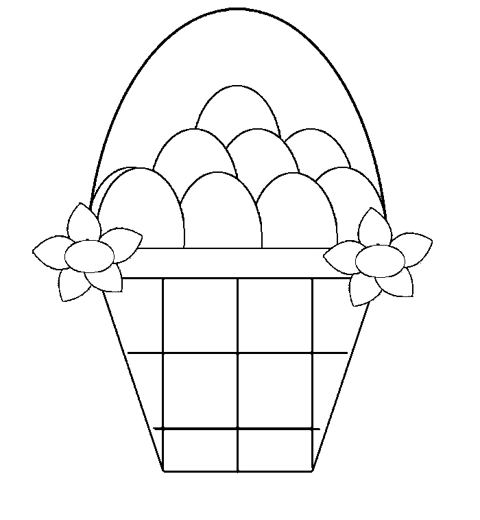 a basket Colouring Pages