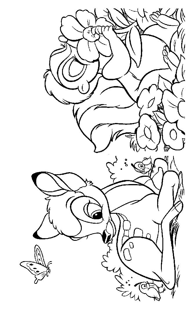 coloring pages bambi - bambi and thumper and flower az coloring pages