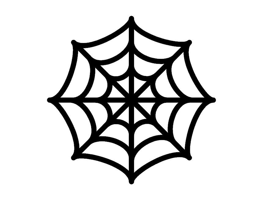 Spider Web Template For Cake