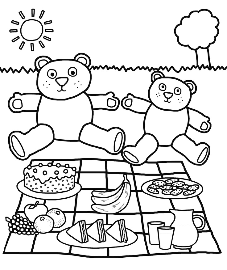 picnic coloring pages printable - photo#7