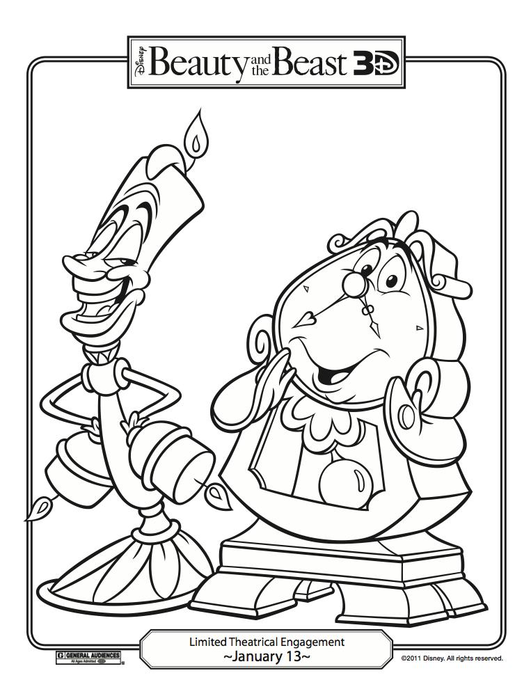 Beauty And The Beast Coloring Page - Coloring Home