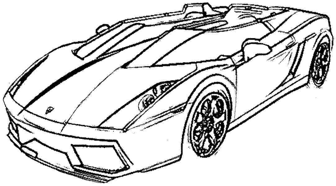 printabl sportcar coloring pages - photo#7