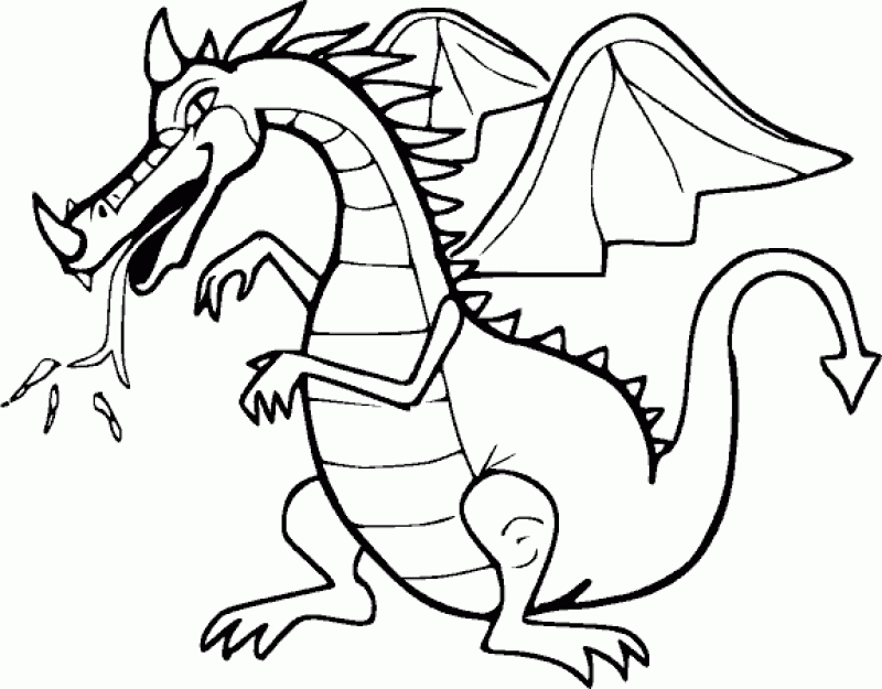 Dragon printing hd printable coloring pages az for Dragon coloring pages pdf