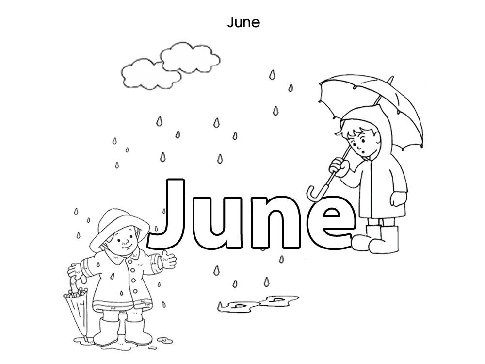 Coloring Pages For Month Of April : Months of the year coloring pages az