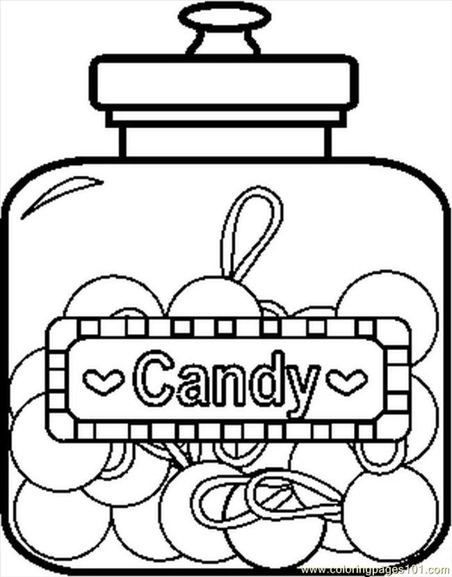 Free Sweets Coloring Pages