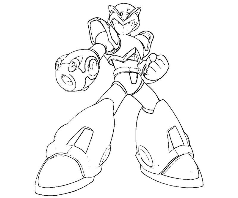 mega man coloring pages free - photo#7