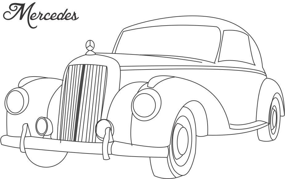 VINTAGE CARS Colouring Pages