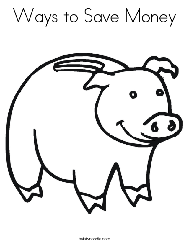 money coloring pages children - photo#24