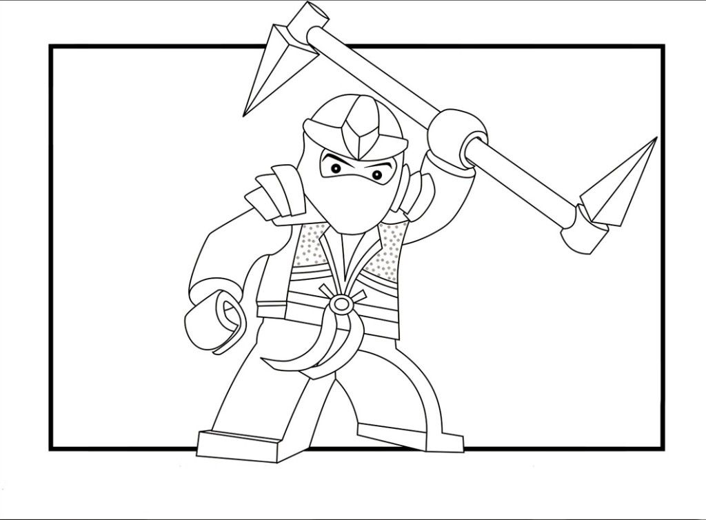 Ninja pictures to color : [ColoringBooksPage.Com] Printable