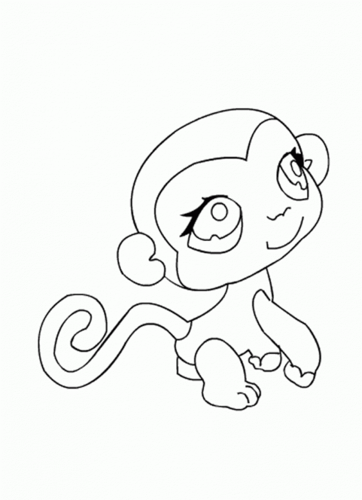 Coloring Pages Of Baby Monkeys Coloring Home Baby Monkey Coloring Pages Free