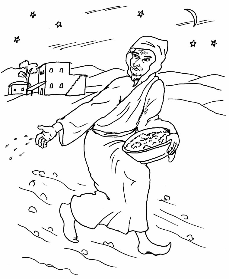 parable of the weeds Colouring Pages