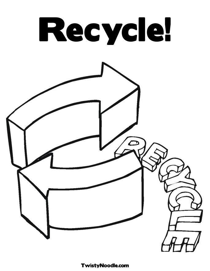 Recycling color pages coloring home for Recycling coloring pages