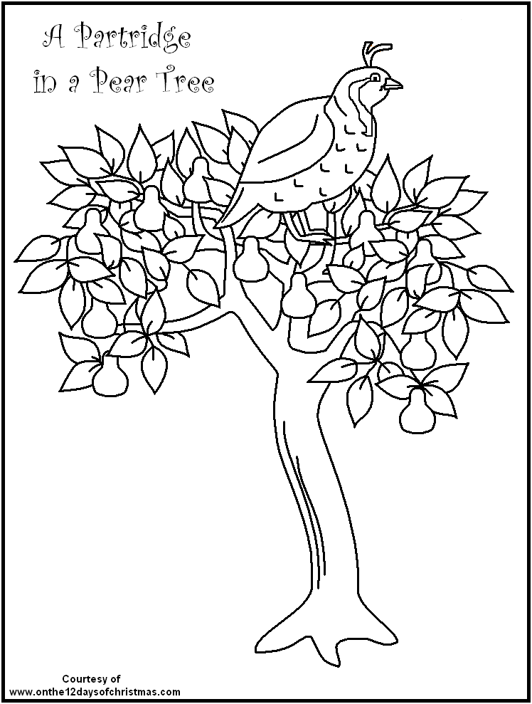 FREE Printable Christmas Coloring - on the 12 days of Christmas theme