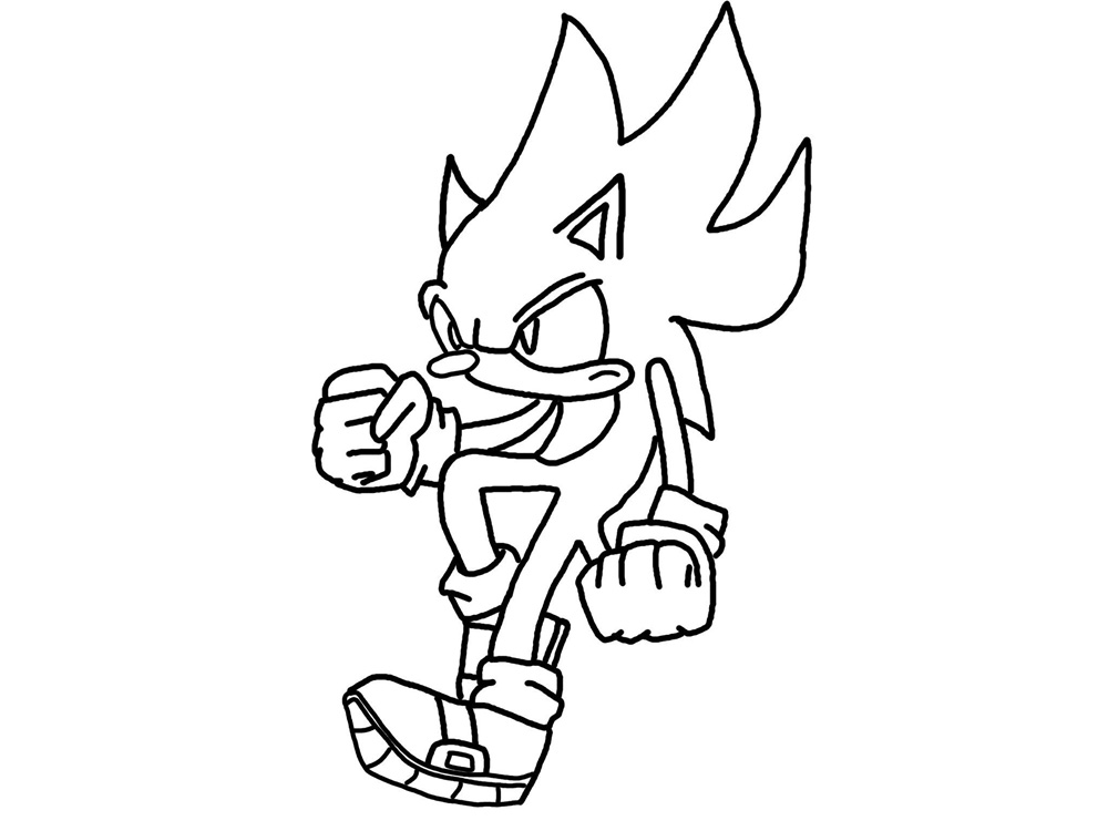 Super sonic coloring pages az coloring pages for A z coloring pages